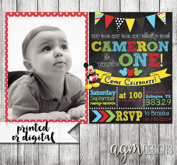 32 First Birthday Invitations Psd Vector Eps Ai Free
