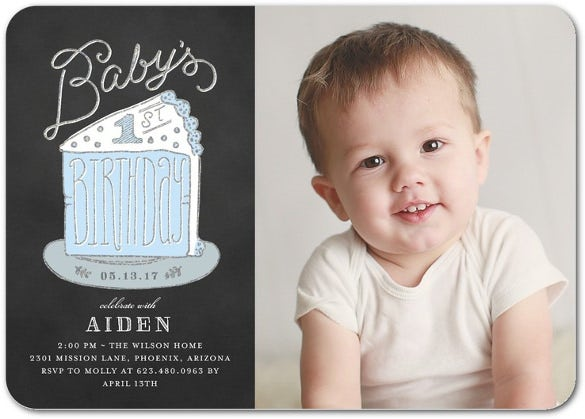 baby first birthday party invitation