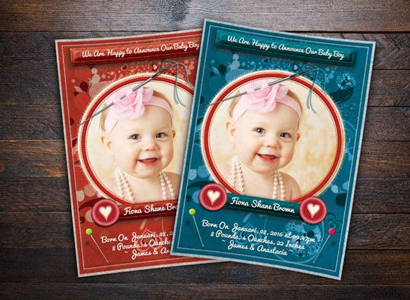 stitch styles baby anouncement card1