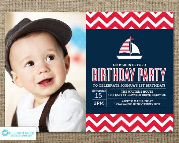 30 first birthday invitations free psd vector eps ai format nautical birthday invitation filmwisefo