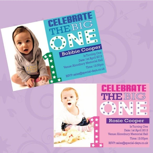 personalised childrens 1st birthday party invitations boys girls stars