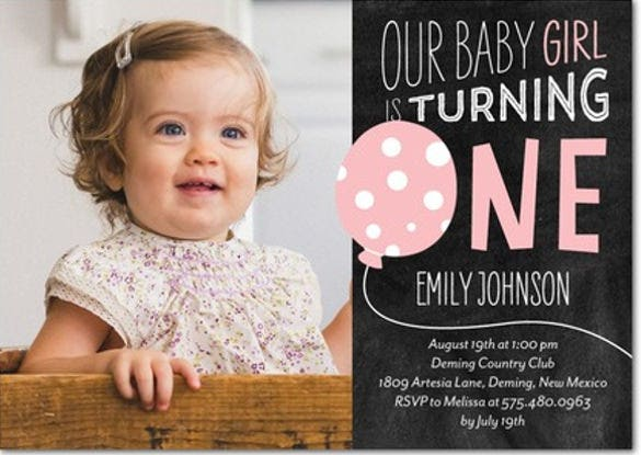 first 1st birthday party celebration invitation