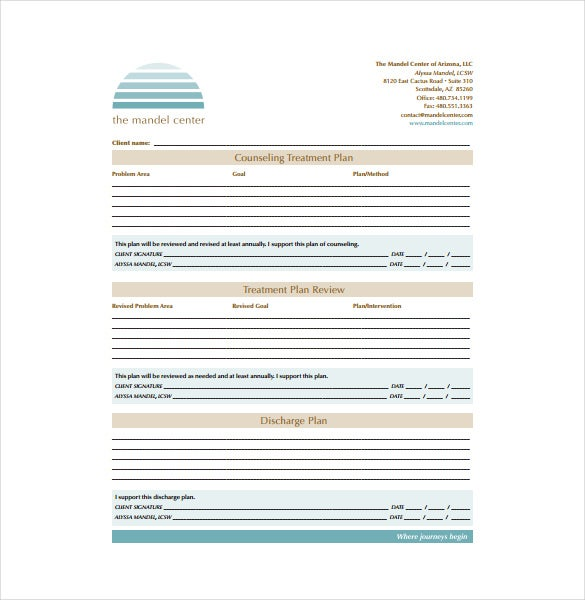 13+ Treatment Plan Templates - Free Sample, Example, Format Download ...