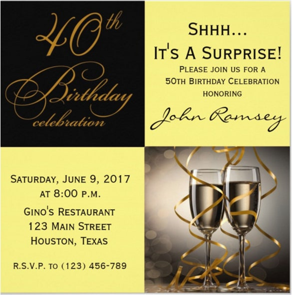 14+ Surprise Birthday Invitations - Free PSD, Vector EPS ...