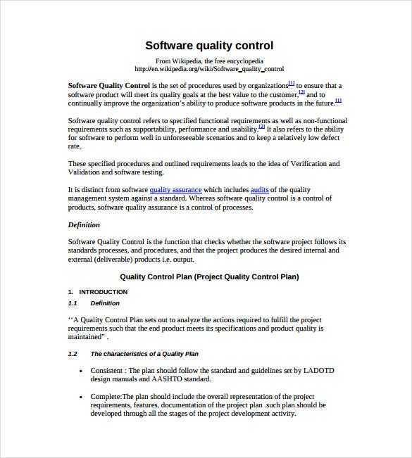 Control plan cso control project sequencing cso control for Mortgage quality control plan template