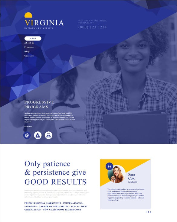 national university drupal mobile template