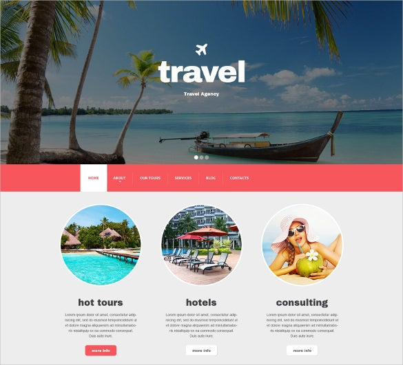 travel agency responsive drupal mobile template