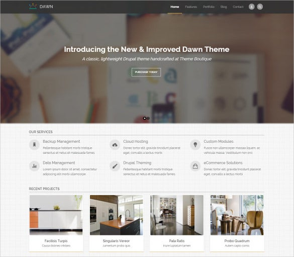 responsive bootstrap business mobile drupal template