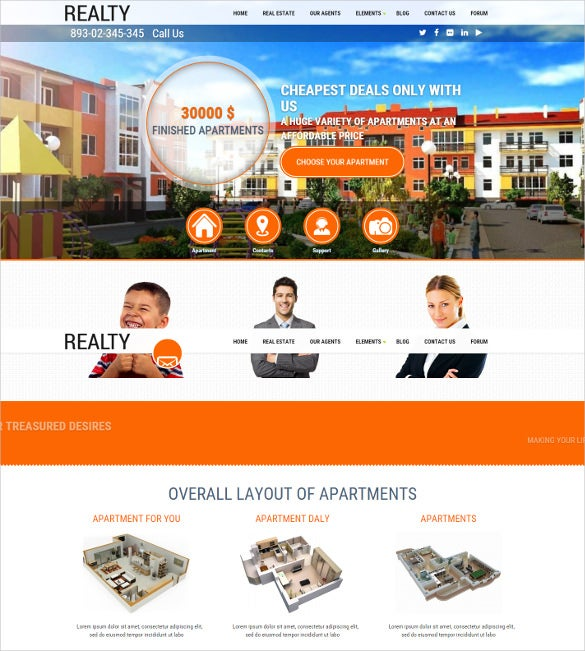 drupal real estate mobile theme