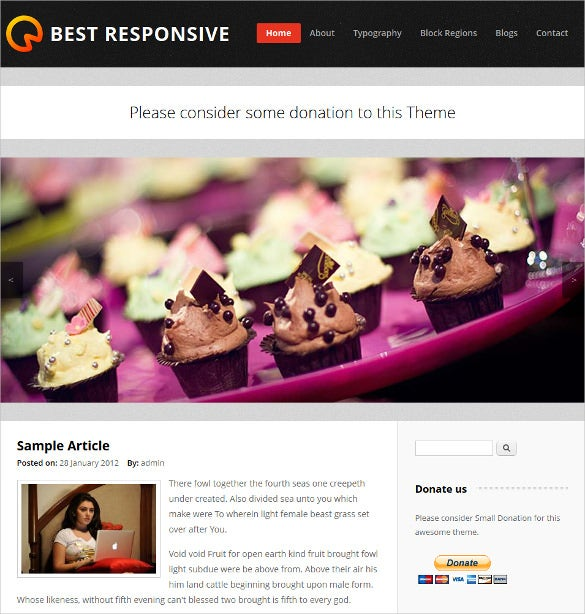 best responsive mobile drupal website template