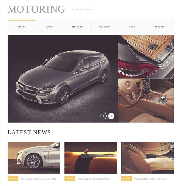 car bike magazine drupal blog template