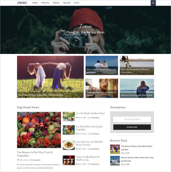 news magazine ghosht blog theme