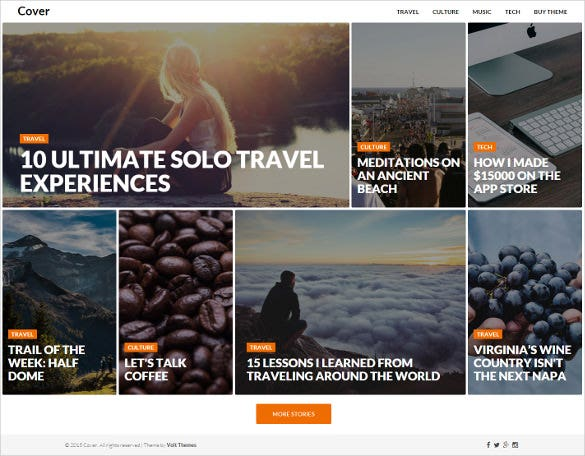 cover magazine blog template