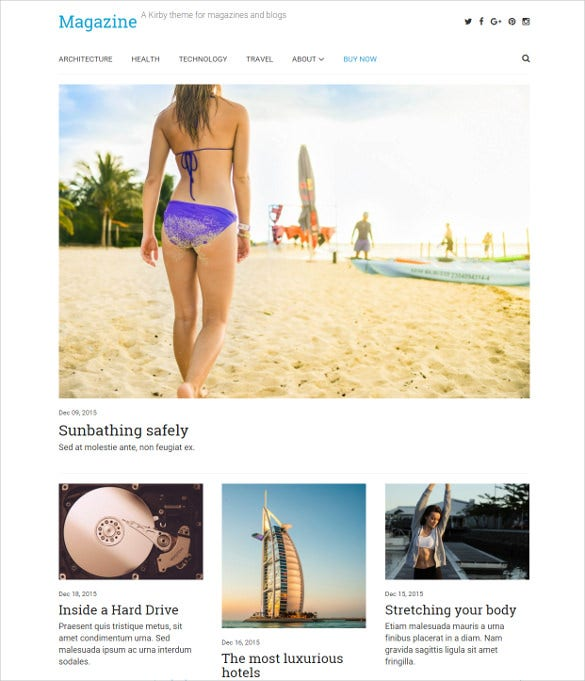 impressive magazine blog theme