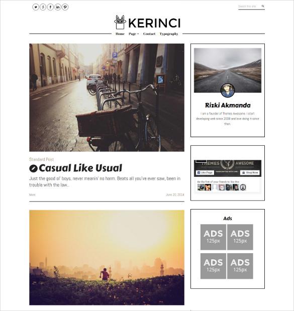 minimalist modern magazine blog theme