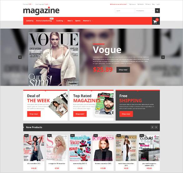 magazine store magento bootstrap theme