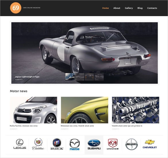 cars magazine wordpress bootstrap theme