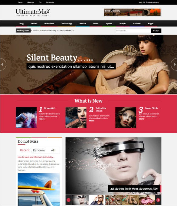ultimate magazine responsive wordpress bootstrap theme
