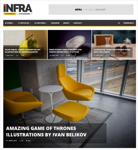 news magazine html bootstrap template