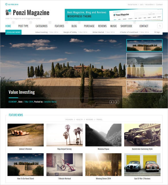 responsive wordpress bootstrap theme magazine review