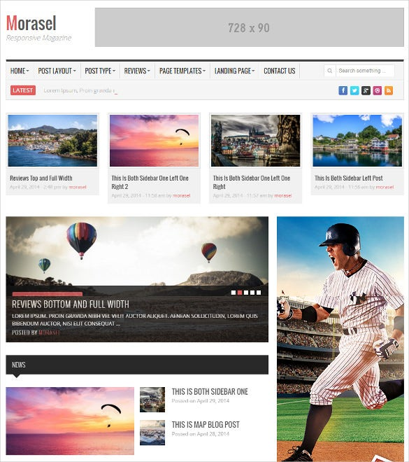 responsive news and magazine bootstrap wordpress template