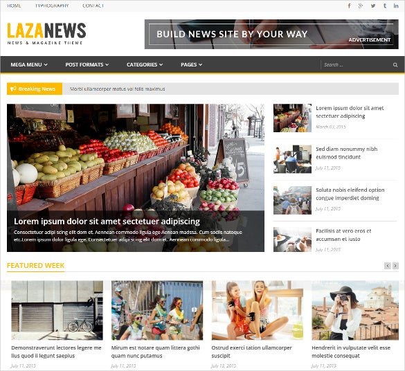 News site template free download gallery template design for News site template free download