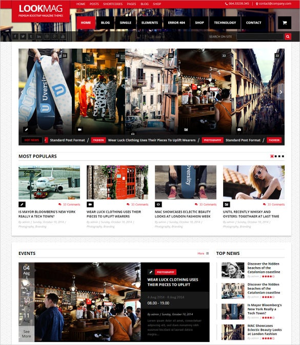 Lookmag Html5 Magazine Bootstrap Template