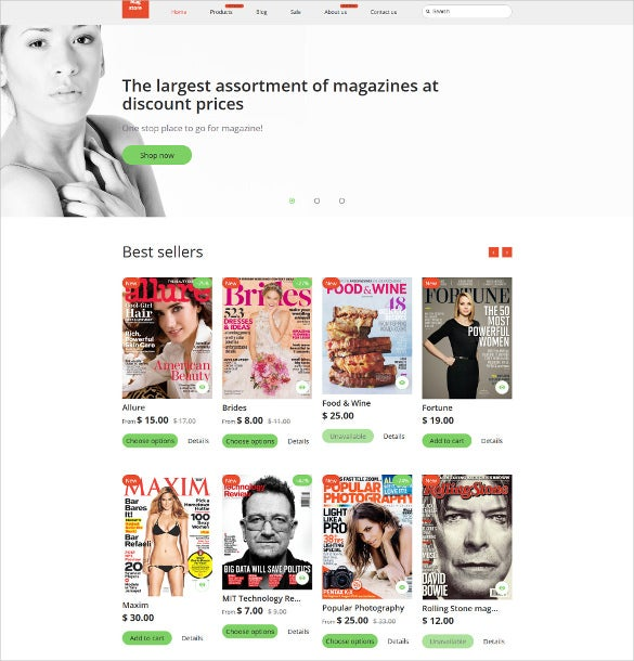 mag store shopify php theme