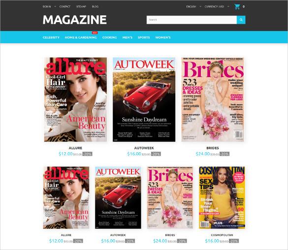 magazine responsive prestashop php theme