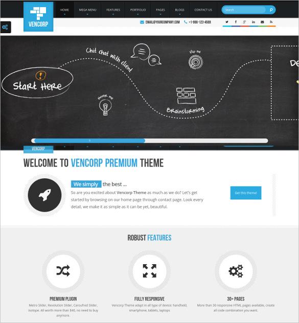 elegant responsive html5 magazine php template