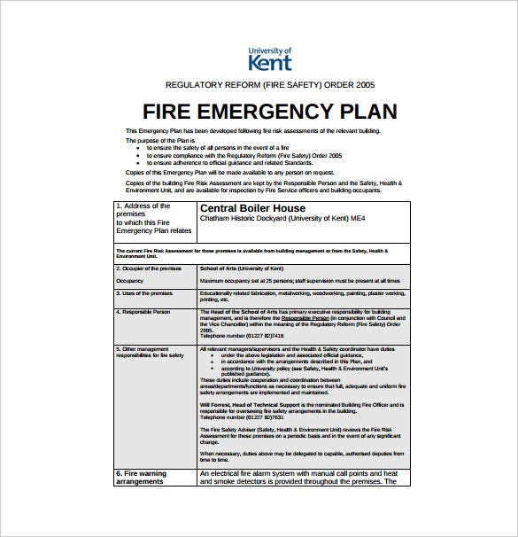 14 emergency plan templates free sample example for House fire safety plan