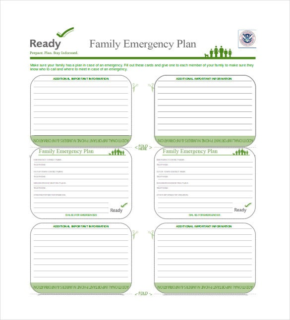 16 Emergency Plan Templates Free Sample Example Format