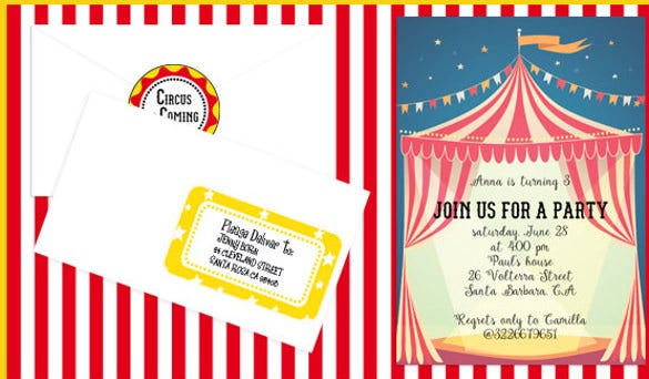 carnival birthday invitation party decorations full printable