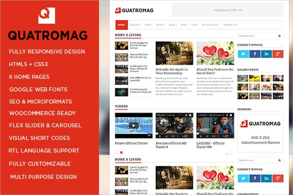 magazine blog wordpress php theme