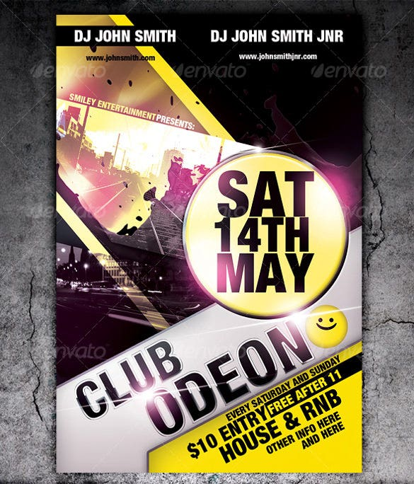 club flyer template photoshop psd format