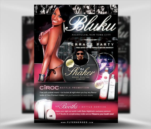 bluku nightclub flyer template psd download