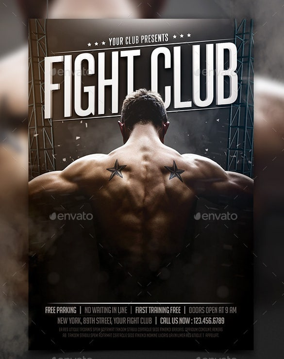 download fight club flyer template psd format