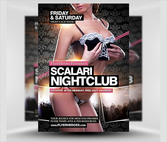 scalari nightclub flyer template rtf format download