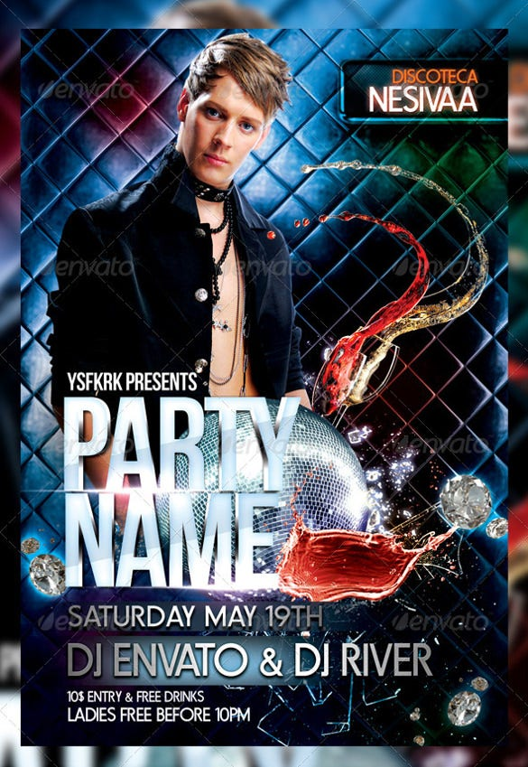 night club flyer template photoshop psd download