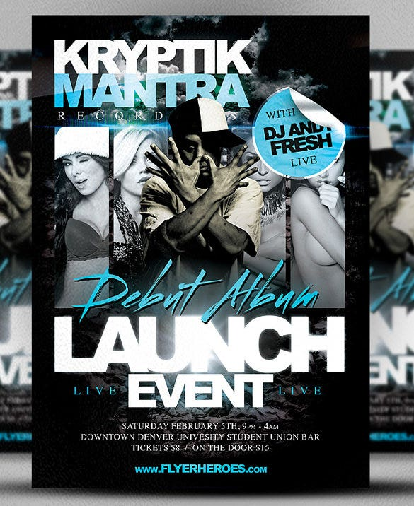 kryptik club flyer template psd format download