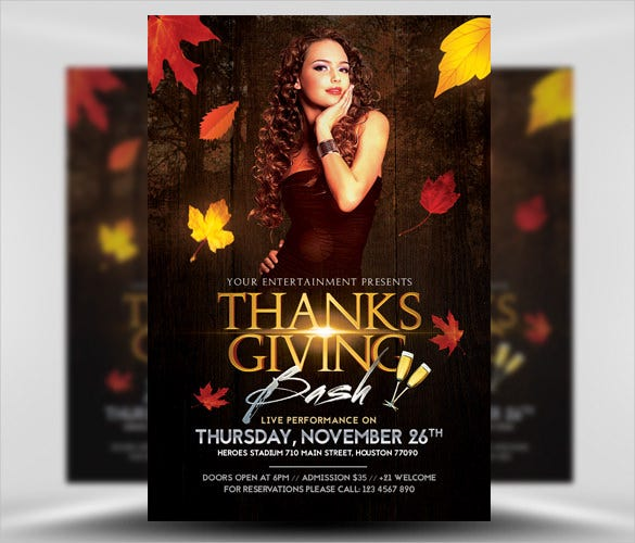 thanksgiving club flyer template psd download