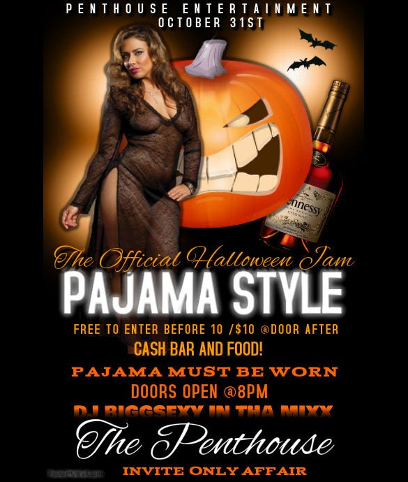 customize pajama club flyer template online free