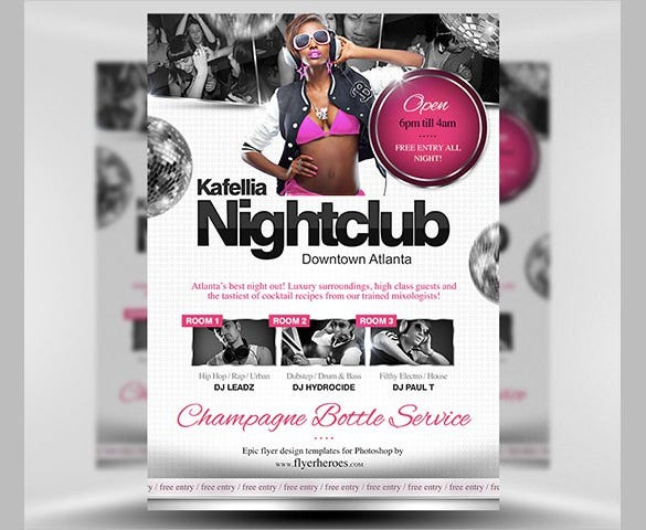 download kafellia nightclub flyer template