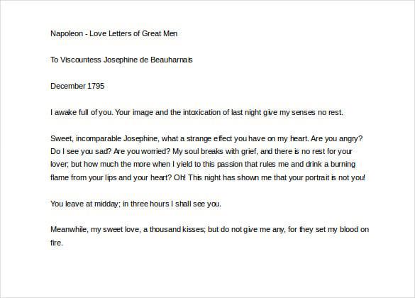 napoleon love letter