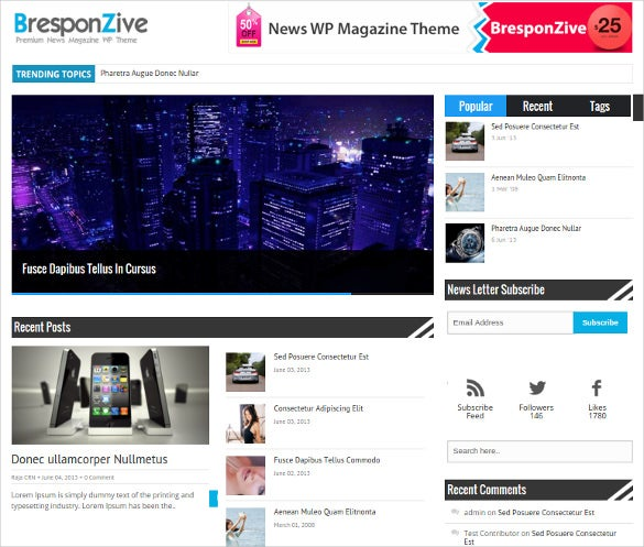 professional magazine php theme
