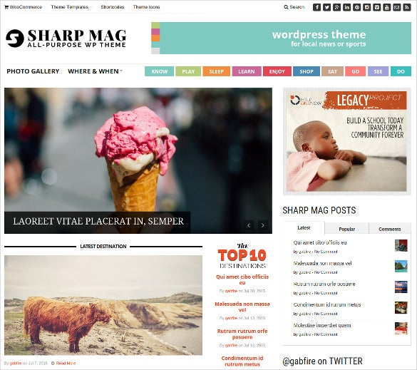 sharp magazine php wordpress theme