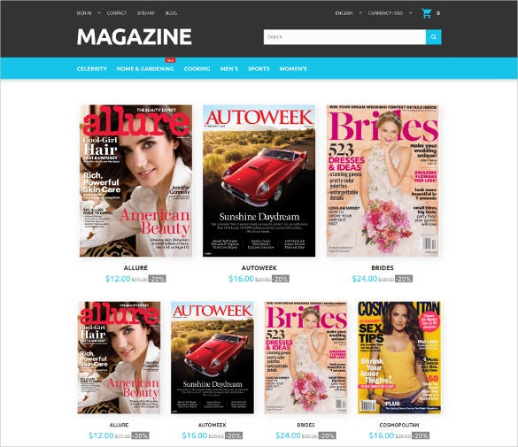 magazine responsive prestashop website template
