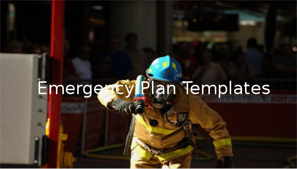 emergency plan template