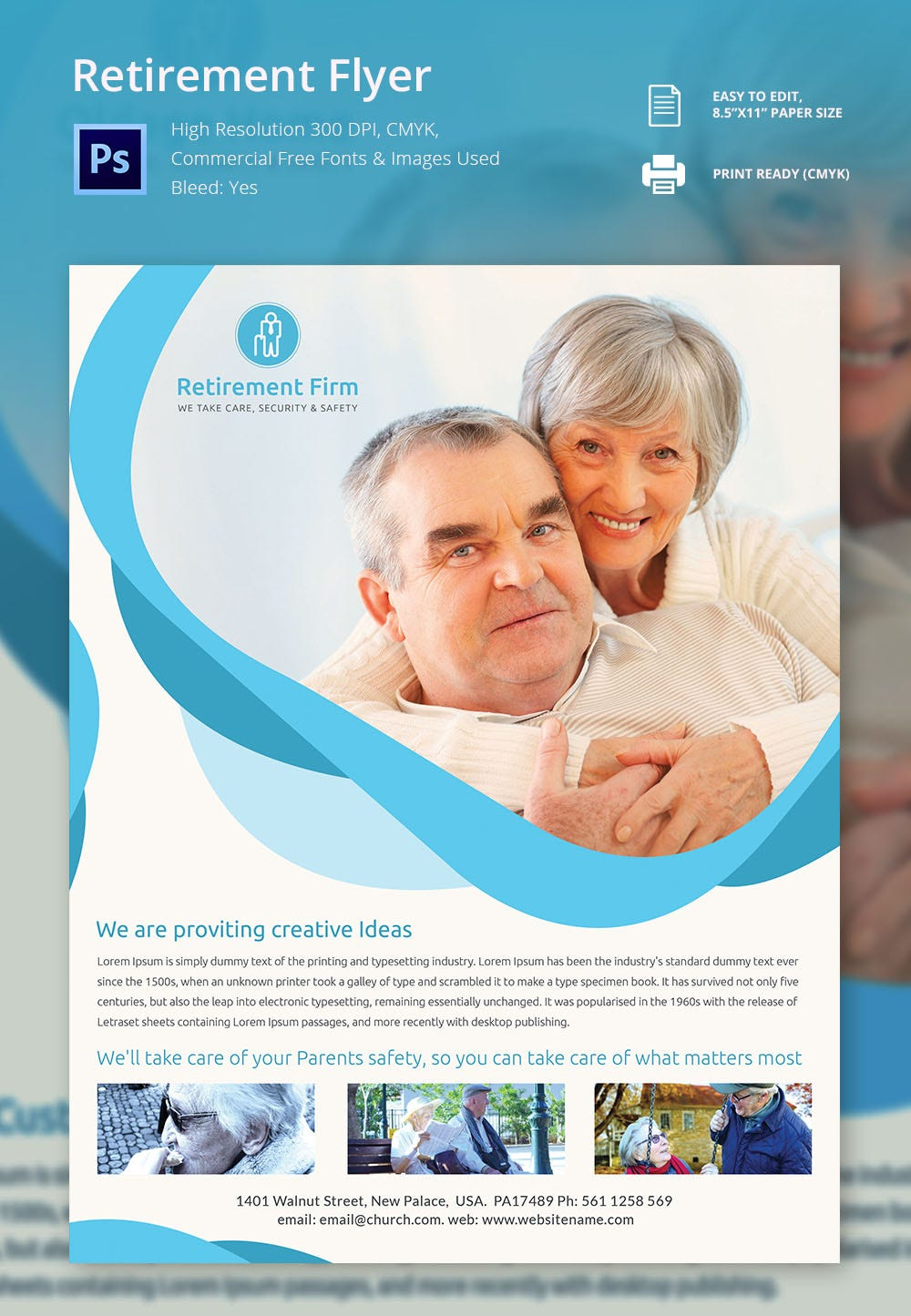 high resolution retirement flyer template