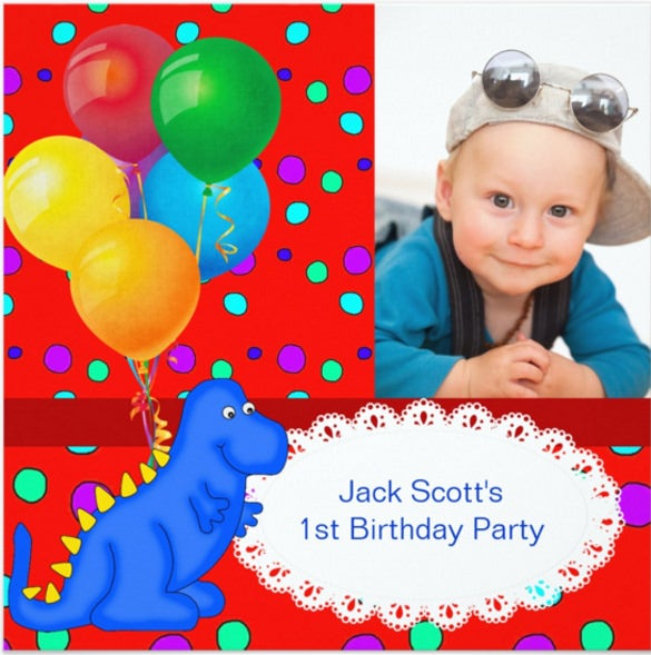 baby boy first birthday 1st dinosaur invitation